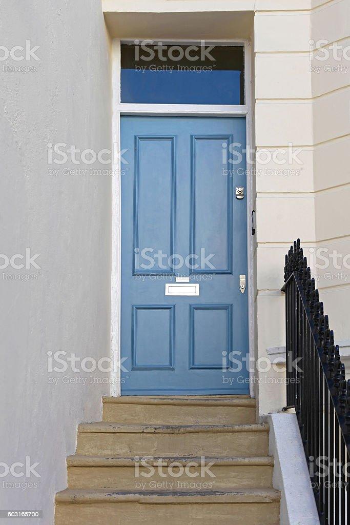 Stairs to Door stock photo