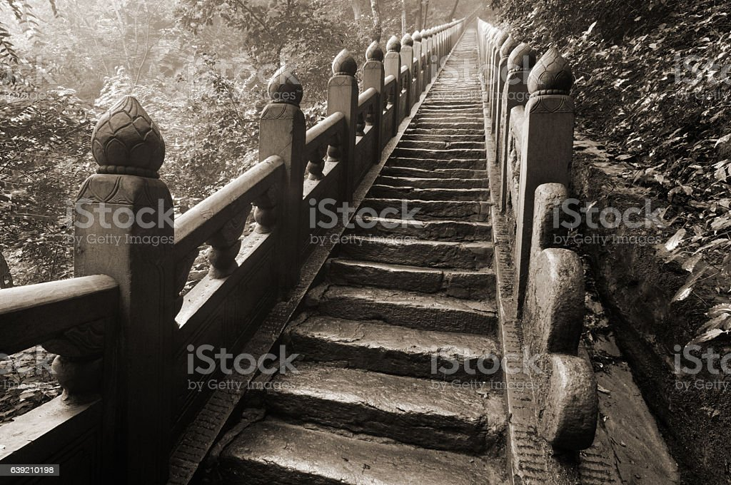 Stairs to golden temple stock photo