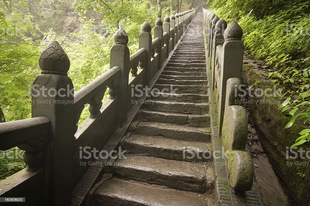 Stairs to heaven stock photo