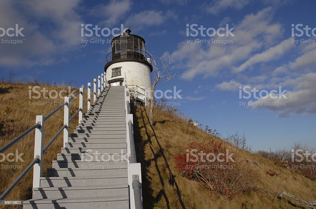 Stairs to Owls Head stock photo