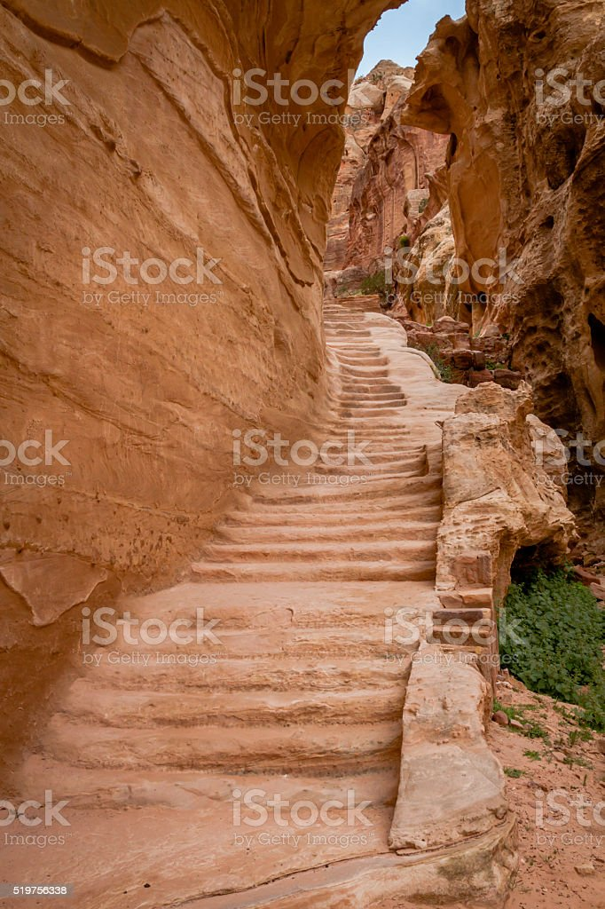 Stairs to Place of Sacrifice stock photo
