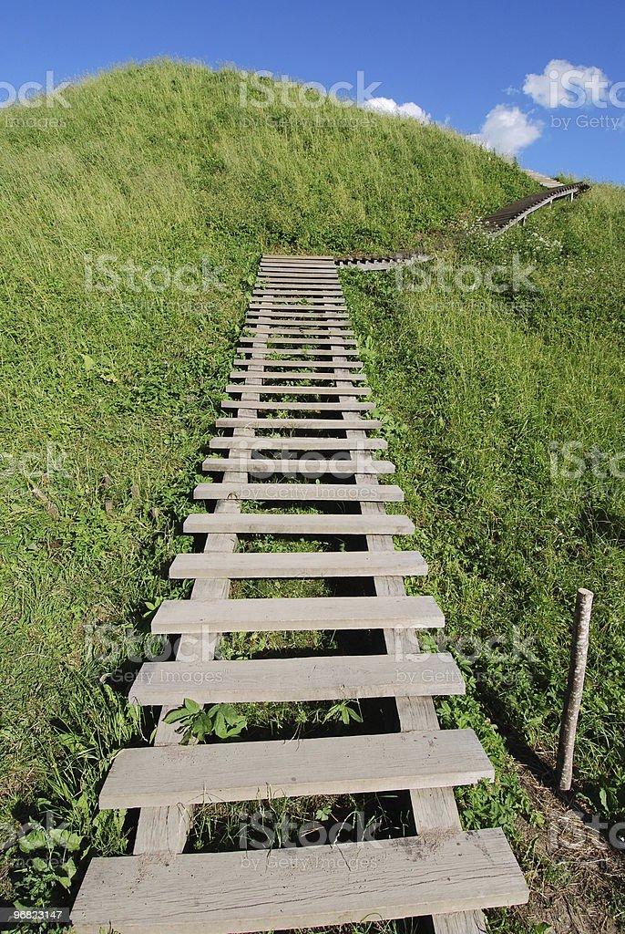 Stairs to sky stock photo