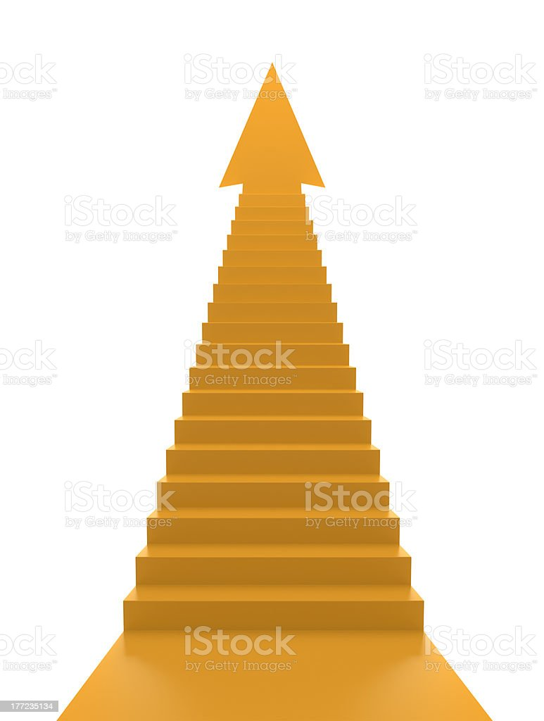 Stairs to Solution stock photo