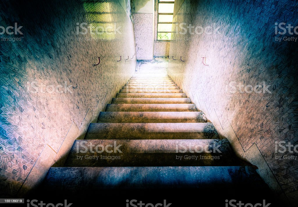 Stairs to the hell royalty-free stock photo