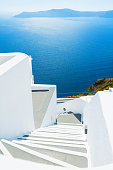 Stairs to the sea. Santorini island, Greece
