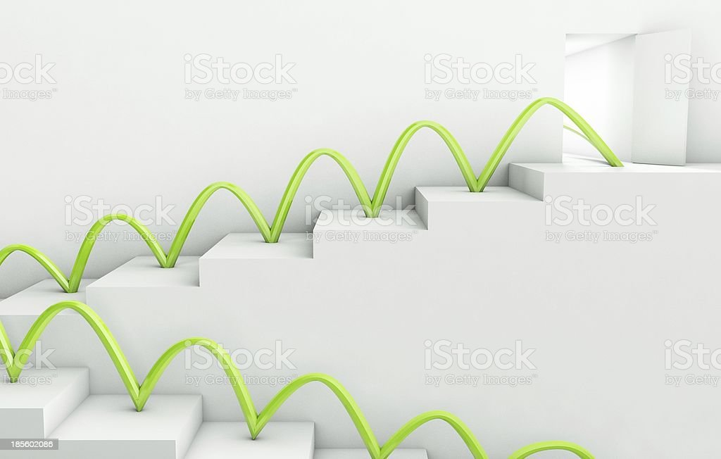Stairs Way to Success, 3d business concept royalty-free stock photo