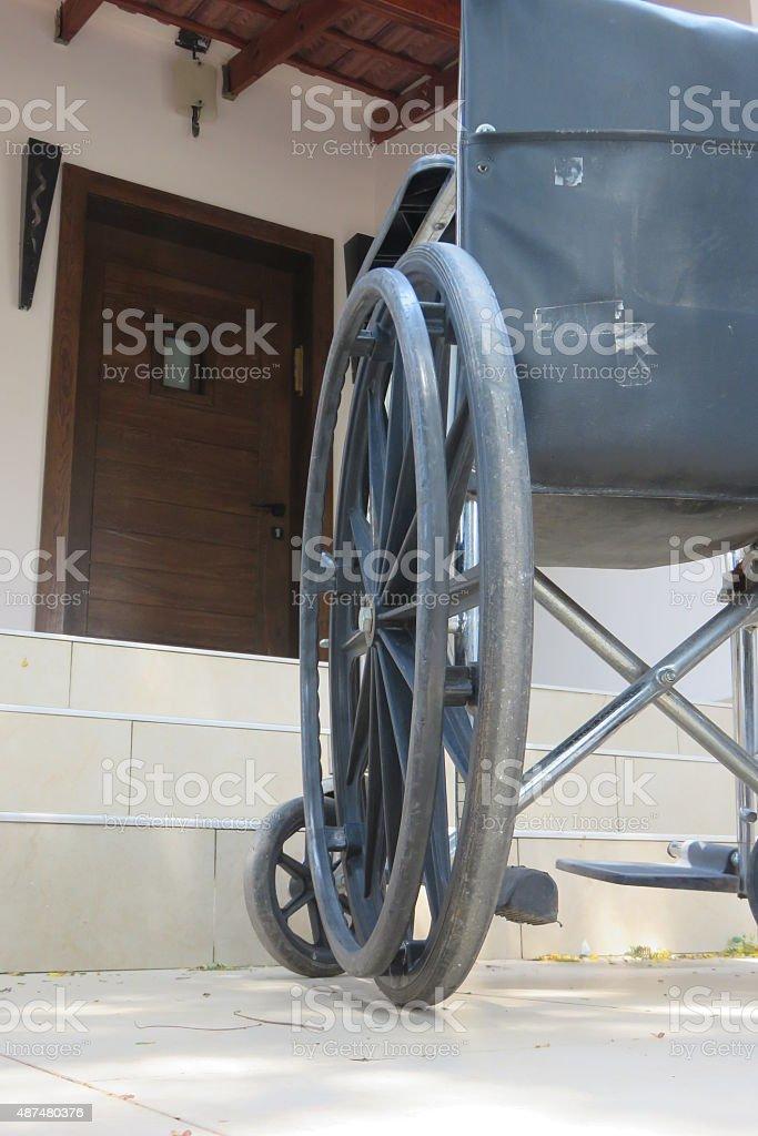Stairs, wheelchair stock photo