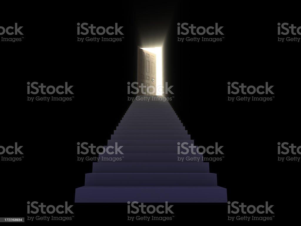 Stairway Concept II: Opening Door royalty-free stock photo