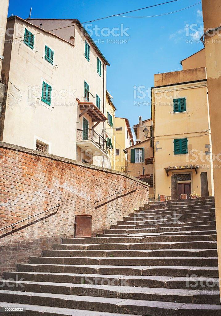 Stairway In Italian Village stock photo