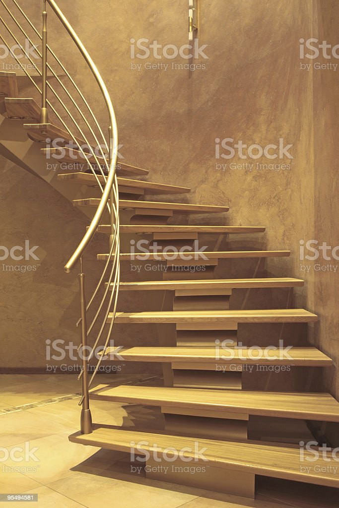 stairway in luxury home royalty-free stock photo