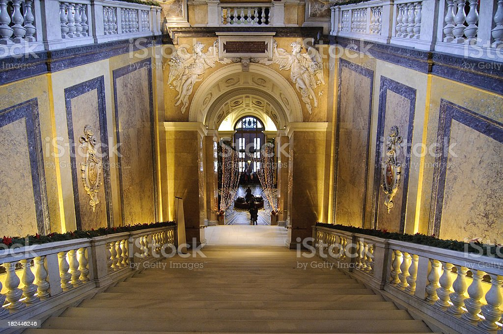 Stairway in Museum royalty-free stock photo