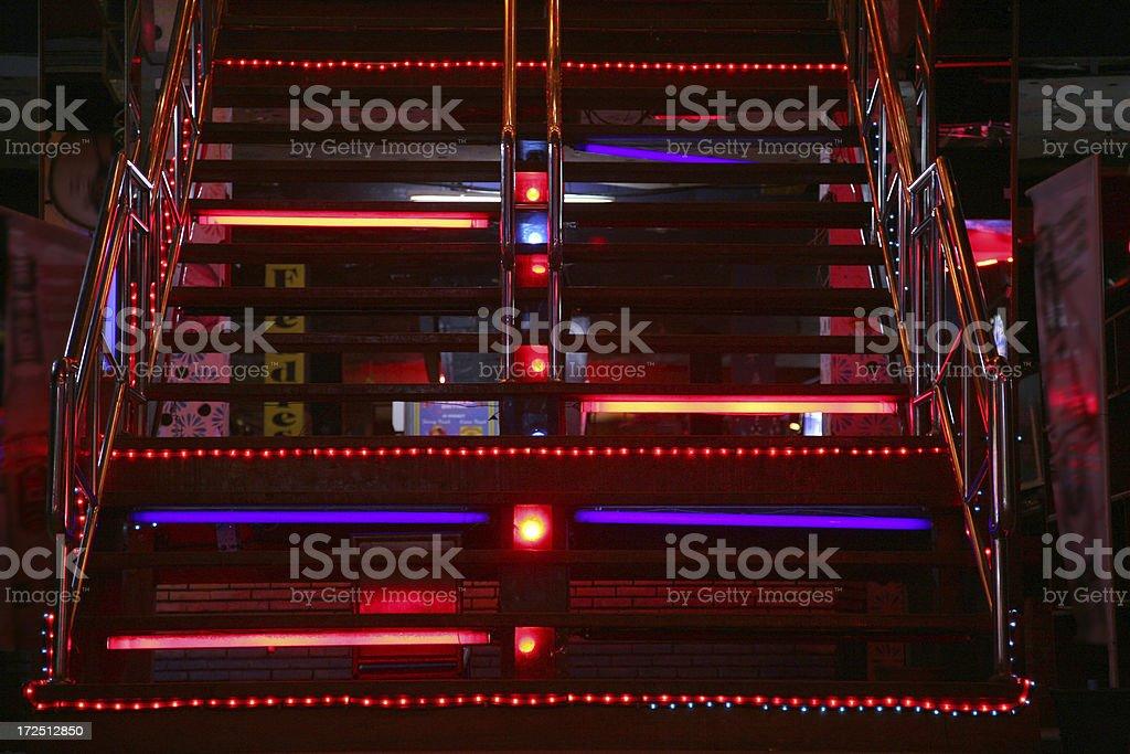 Stairway In Nightclub royalty-free stock photo