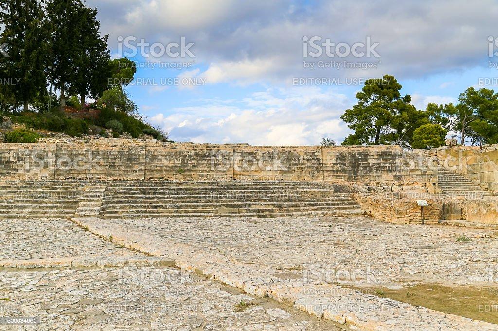 Stairway in Phaistos stock photo