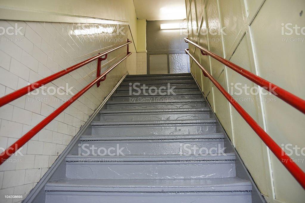 Stairway in school stock photo