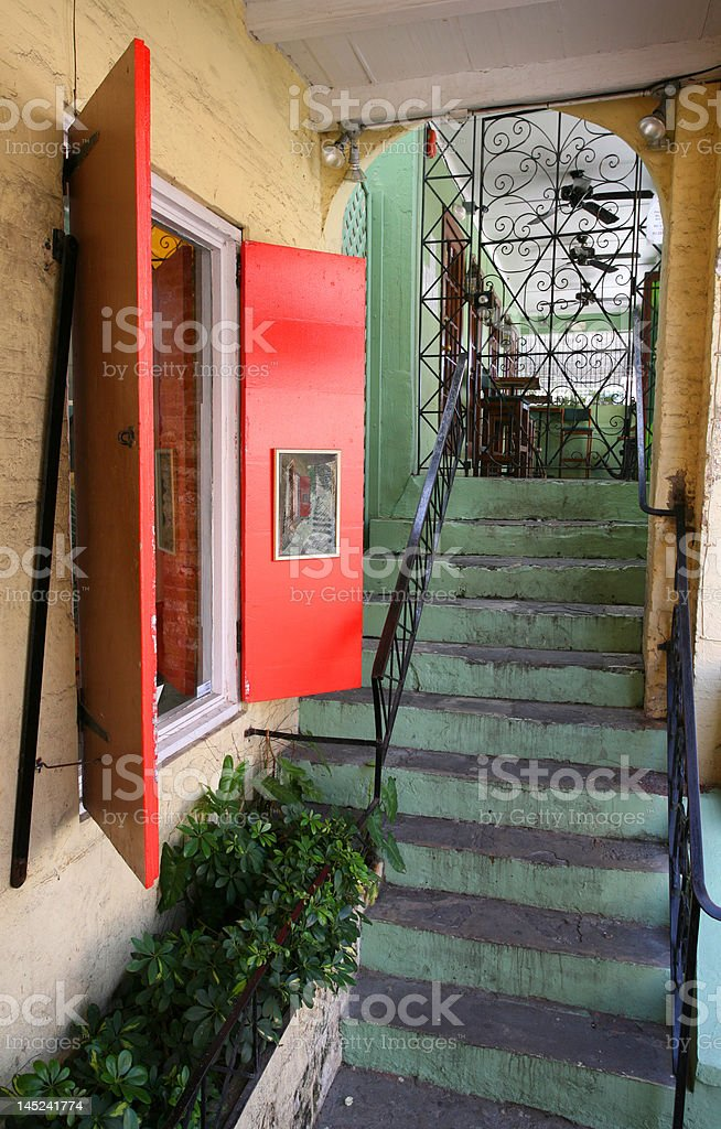 Stairway in St. Croix US VI royalty-free stock photo