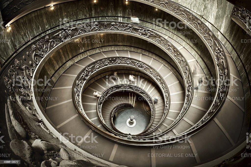 Stairway in Vatican Museum royalty-free stock photo