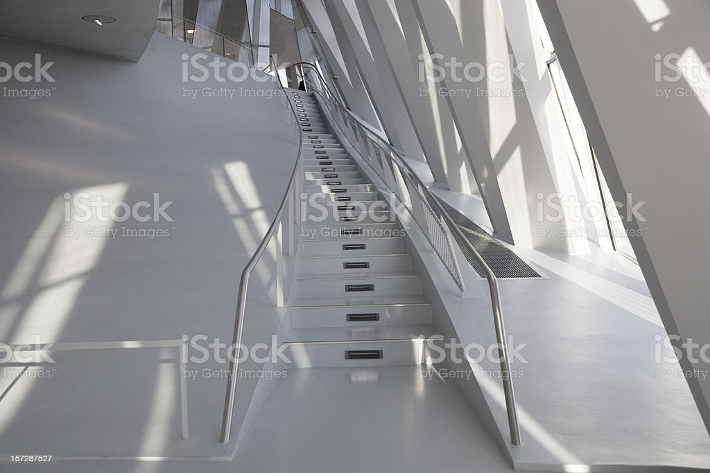 stairway modern architecture royalty-free stock photo
