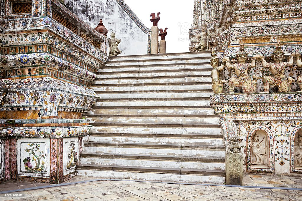 Stairway of Wat Arun - Bangkok, Thailand royalty-free stock photo