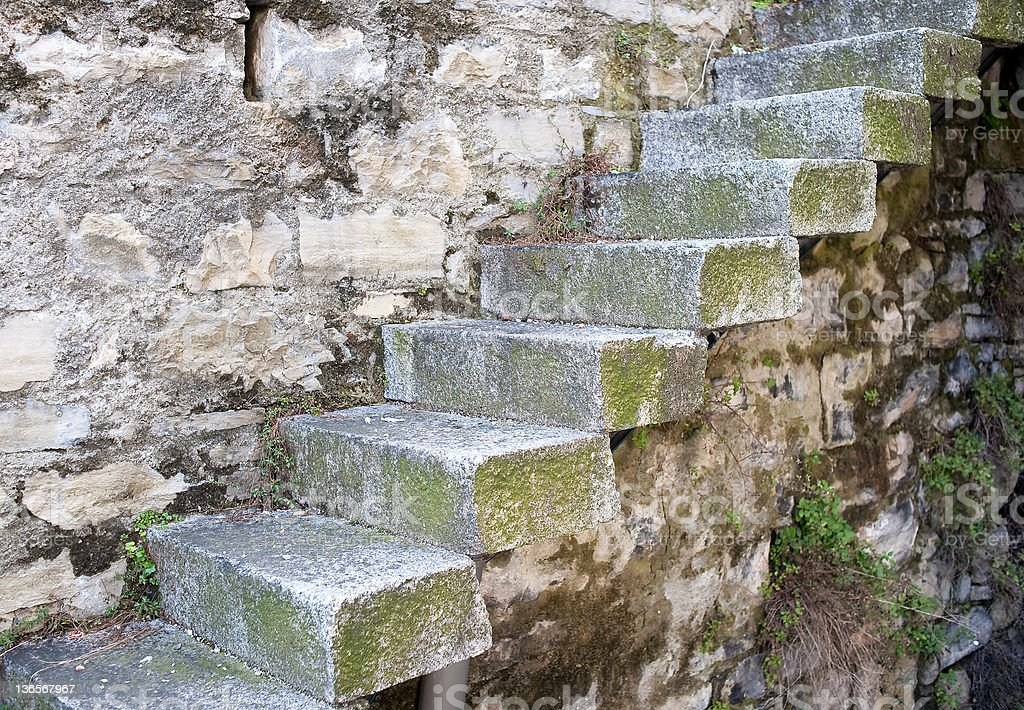 Stairway On The Wall royalty-free stock photo