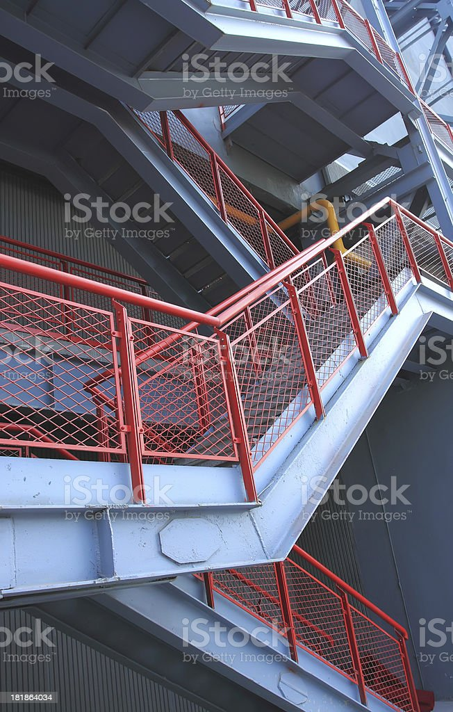 Stairway Outside royalty-free stock photo
