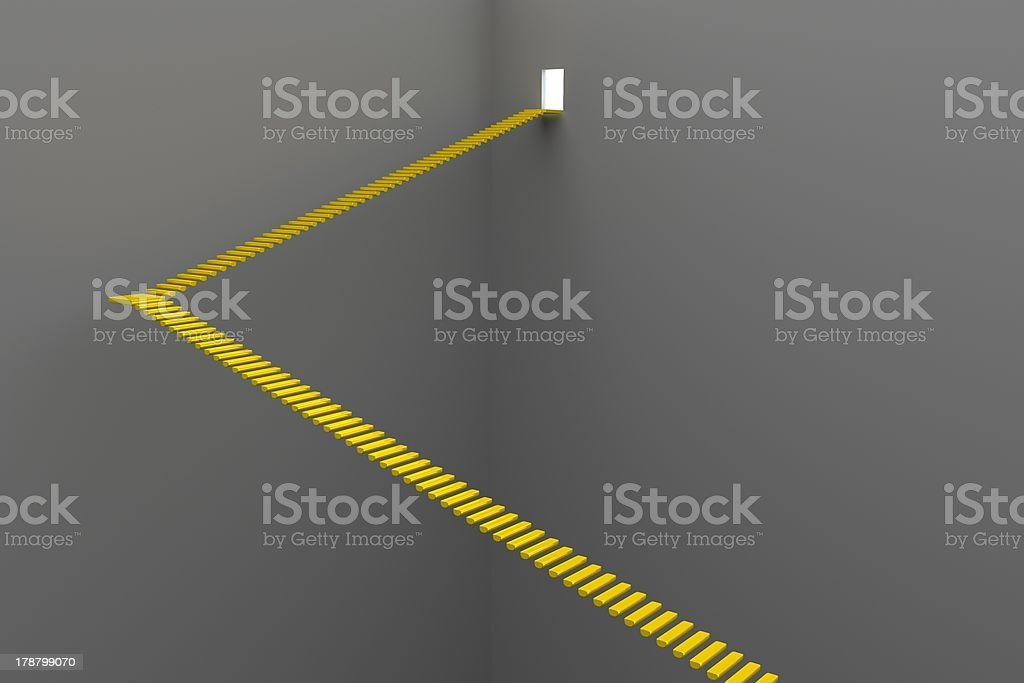Stairway - Road To Success royalty-free stock photo