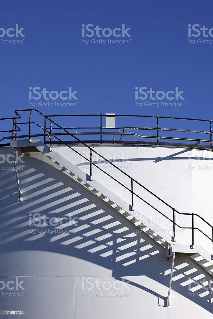 Stairway shadow and blue sky (XXXL) royalty-free stock photo