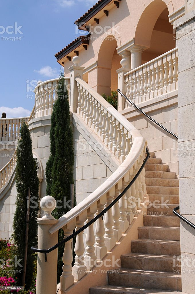 Stairway to club house stock photo