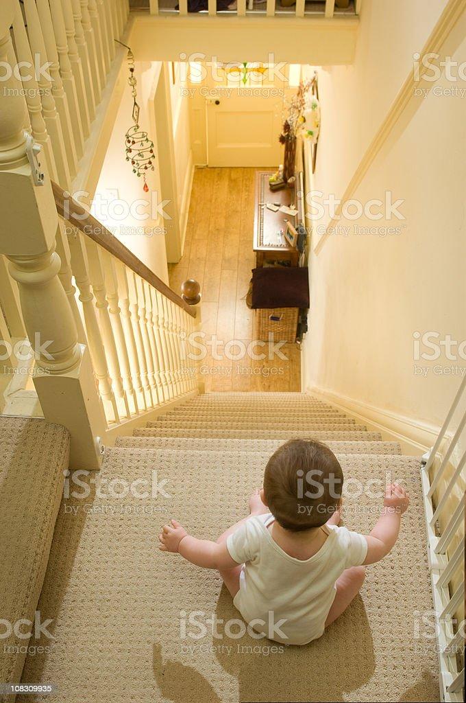 stairway to danger stock photo