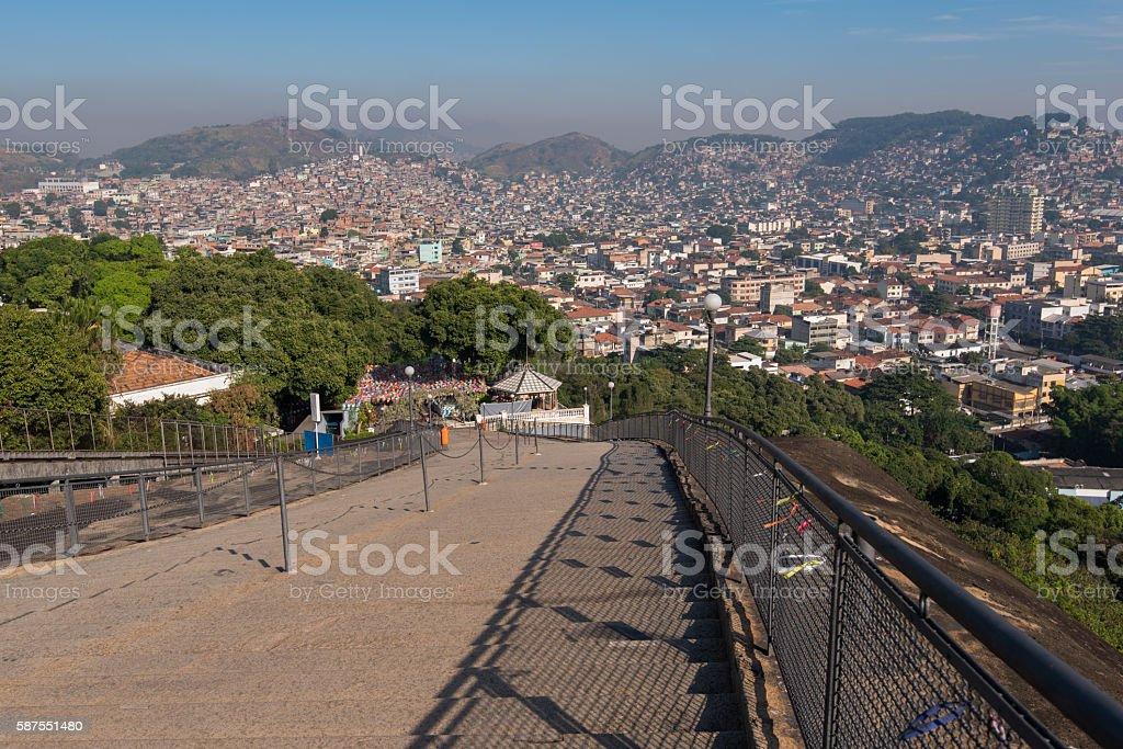 Stairway to Favelas stock photo