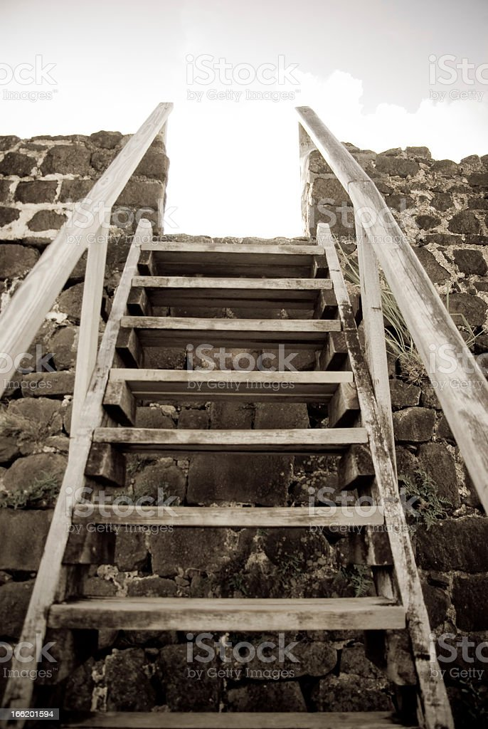 stairway to heaven in monochrome stock photo