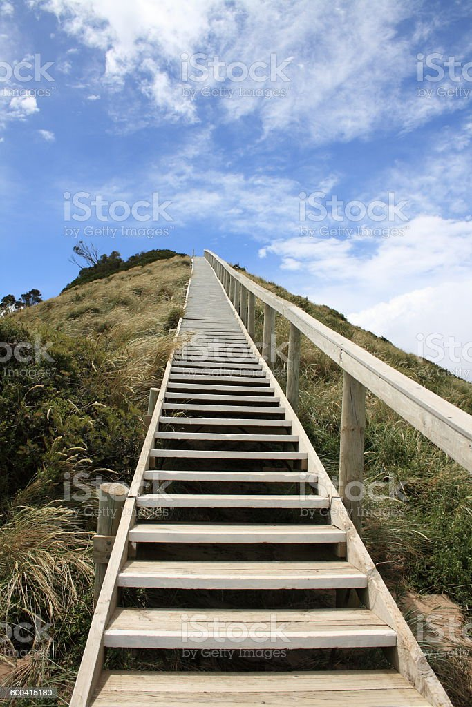 stairway to heaven on Bruny Island in Tasmania stock photo