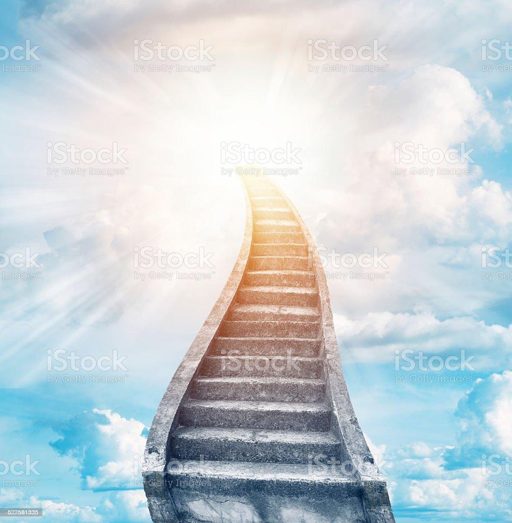 Stairway to heaven stock photo