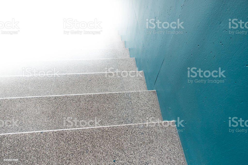Stairway to light stock photo