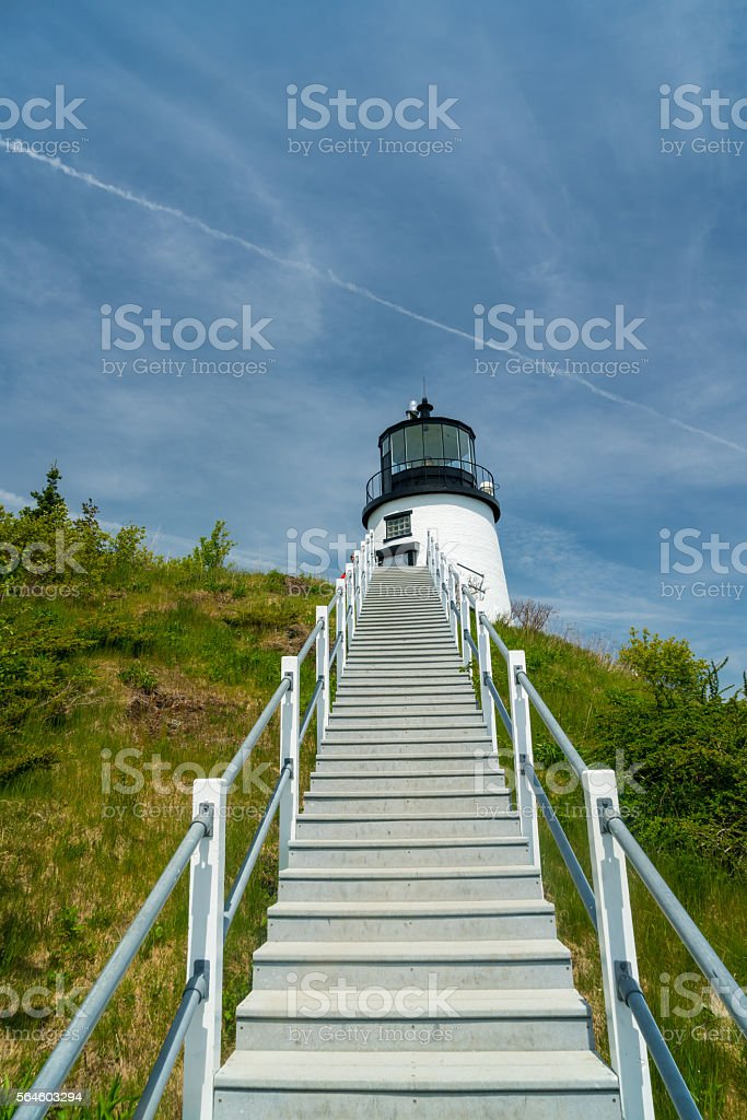 Stairway to Lighthouse stock photo