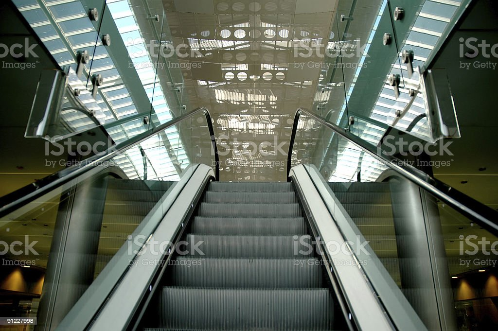 Stairway to mall royalty-free stock photo