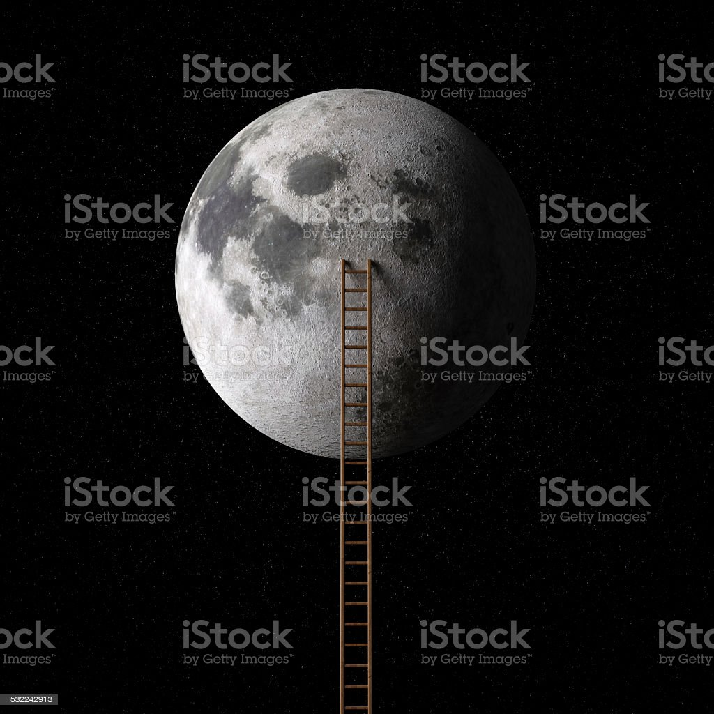 Stairway to moon stock photo
