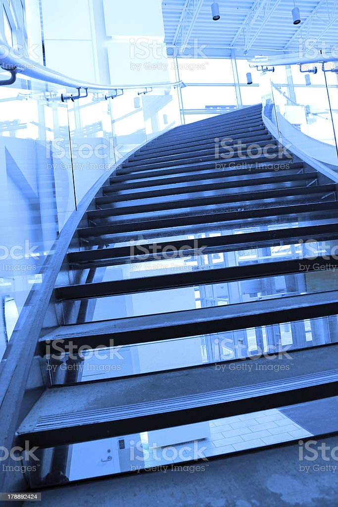 Stairway to shopping mall entrance door royalty-free stock photo