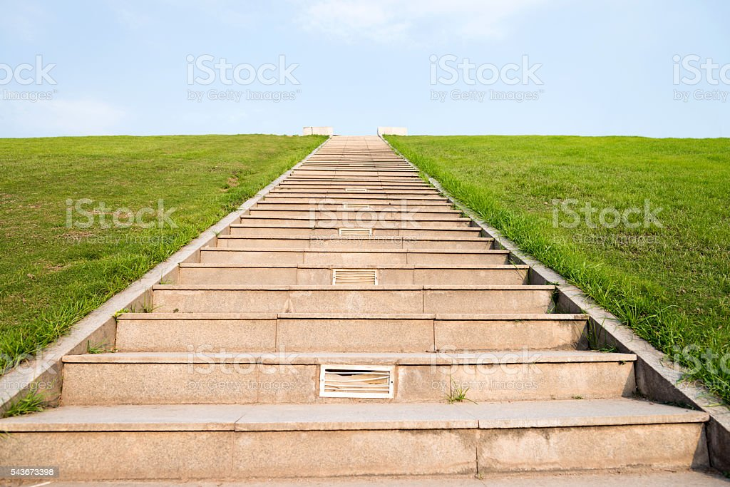 Stairway to sky stock photo