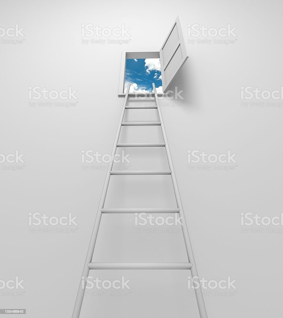 Stairway to solution royalty-free stock photo