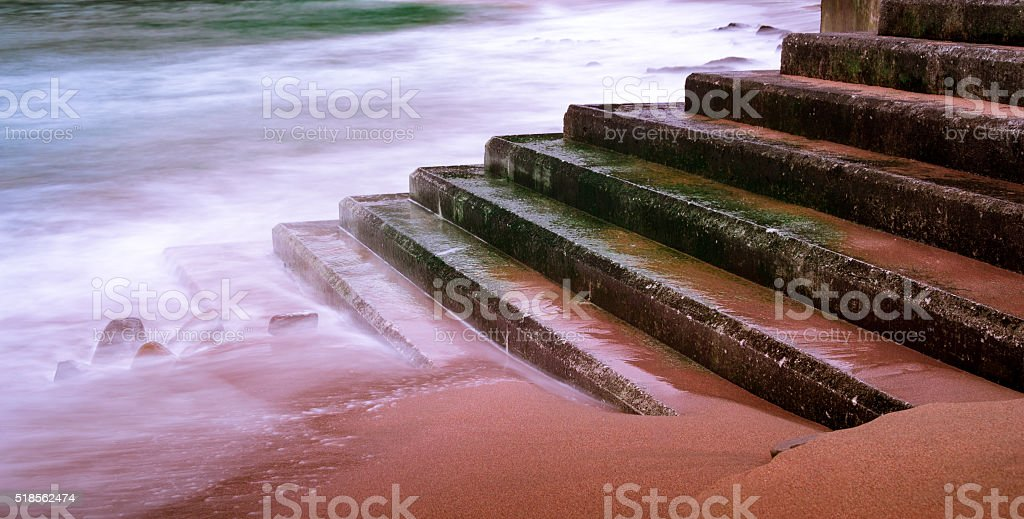 Stairway to the sea II stock photo