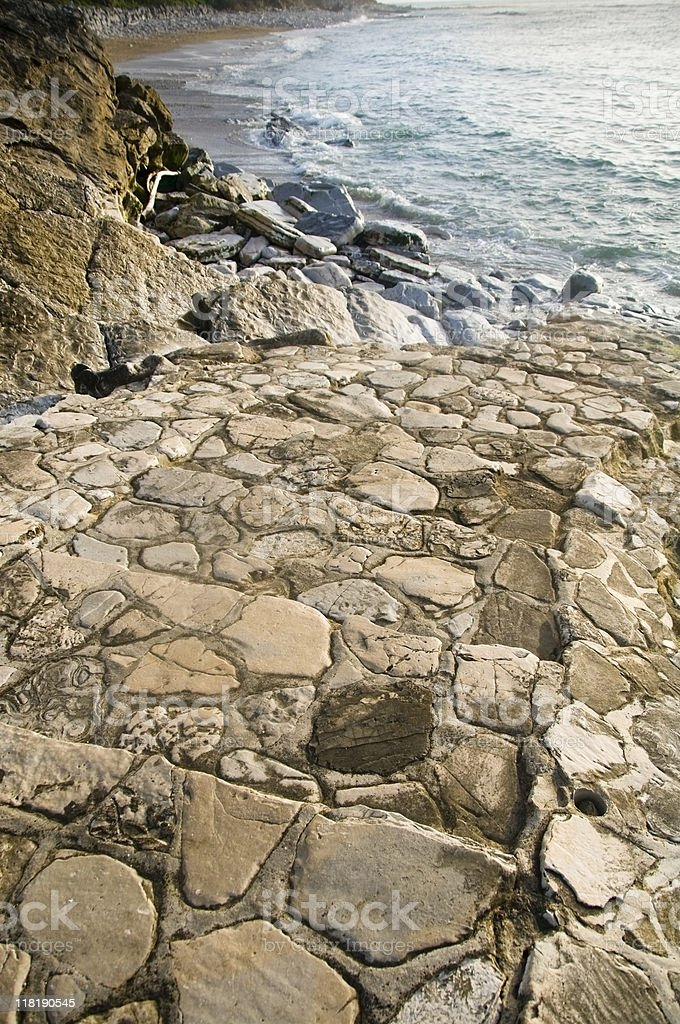 Stairway to the sea royalty-free stock photo