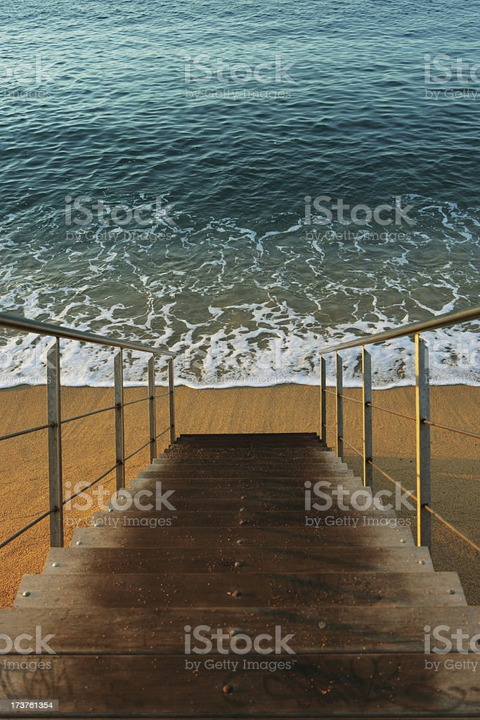 Stairway to the sea stock photo