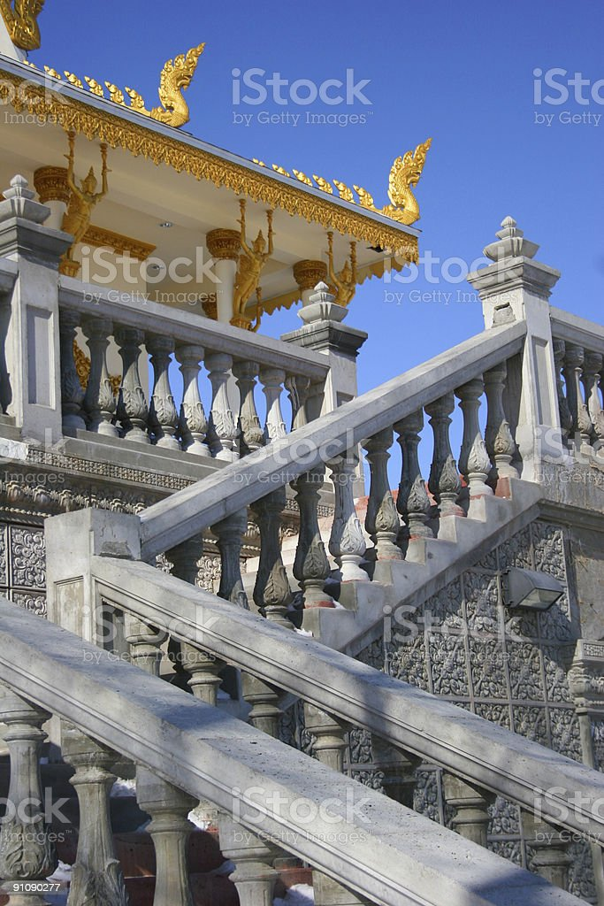 Stairway to the Temple royalty-free stock photo