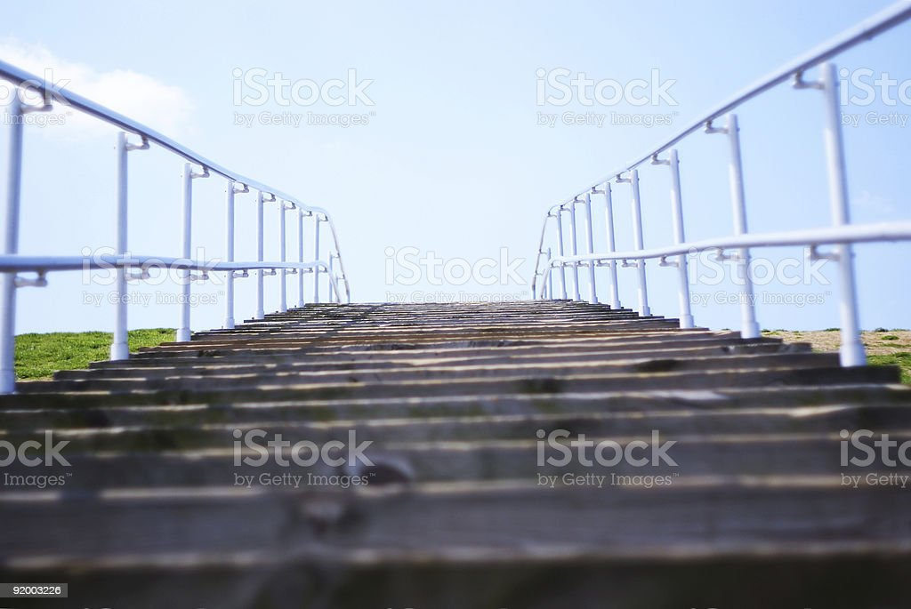 stairway to the top stock photo