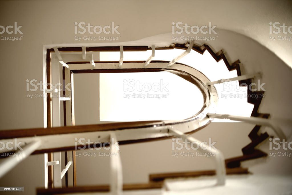 Stairway underview stock photo