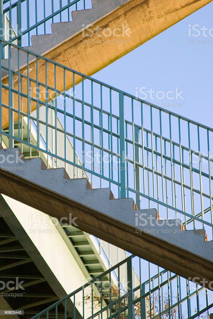 stairway up stock photo