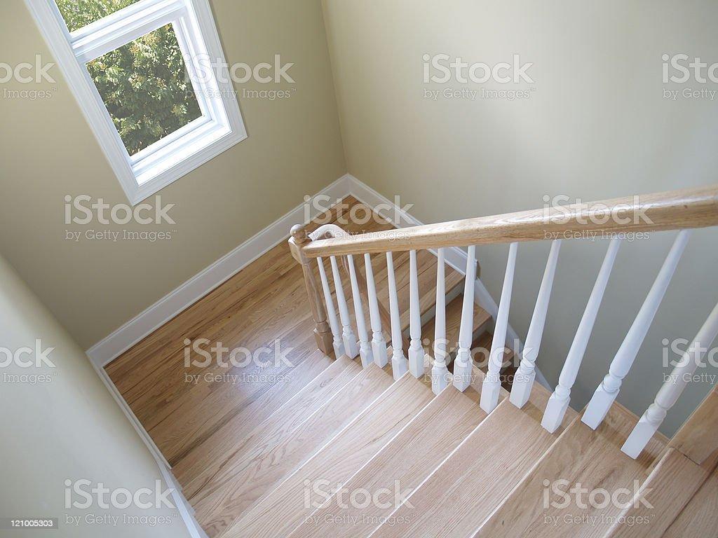 Stairway Window stock photo