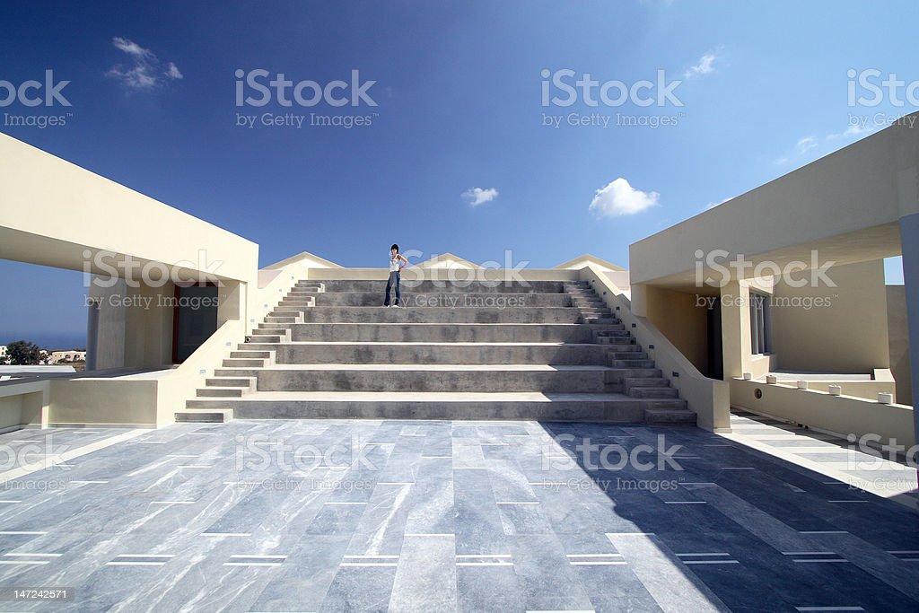 Escalier, fille photo libre de droits