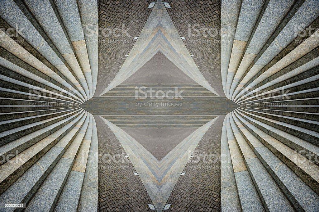 Stairways, Kaleidoscopic stock photo