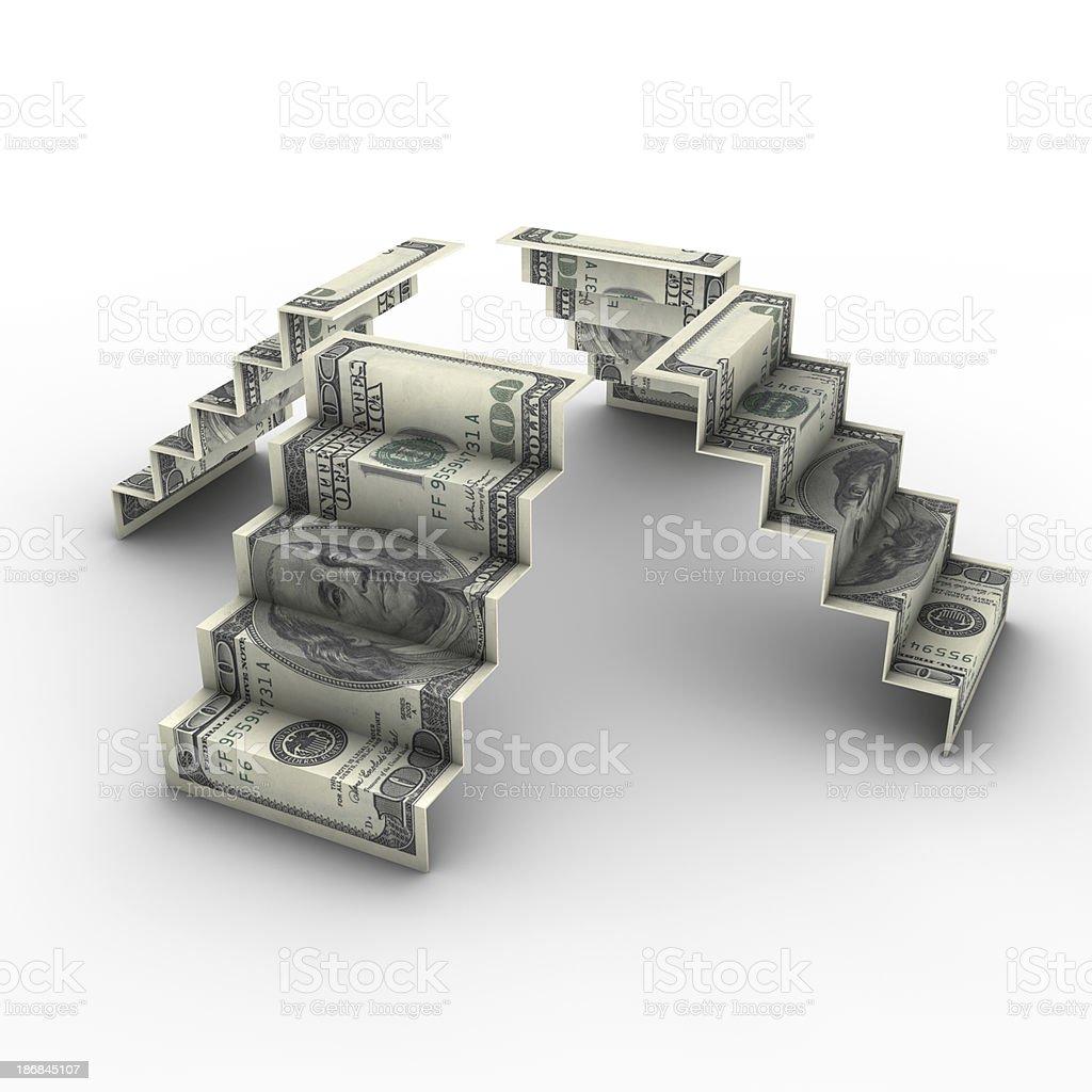 USD stairways royalty-free stock photo